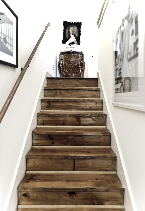 Самодельная лестница в классическом стиле