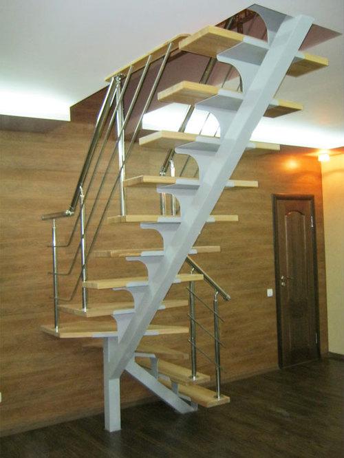 Лестница на косоурах в доме