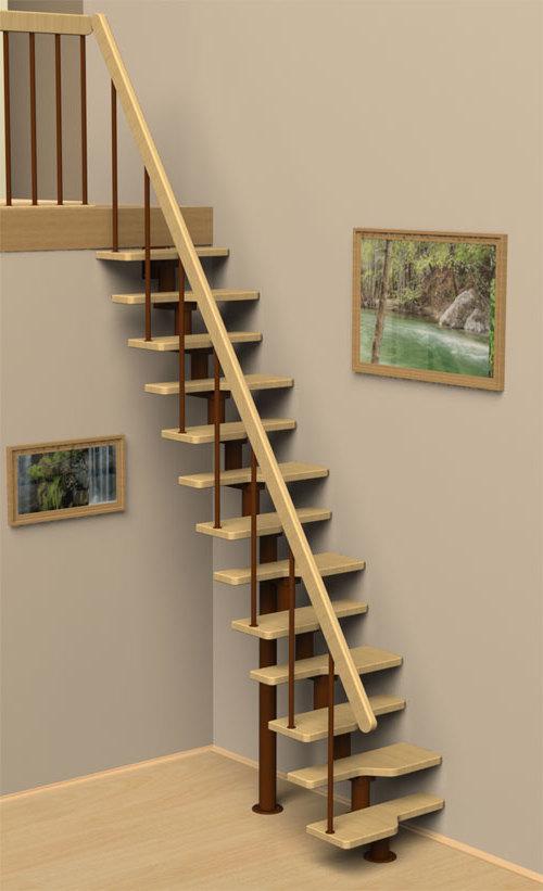 Пример  лестницы Гусиный Шаг