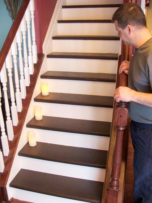 Лестница изготовленная из дерева