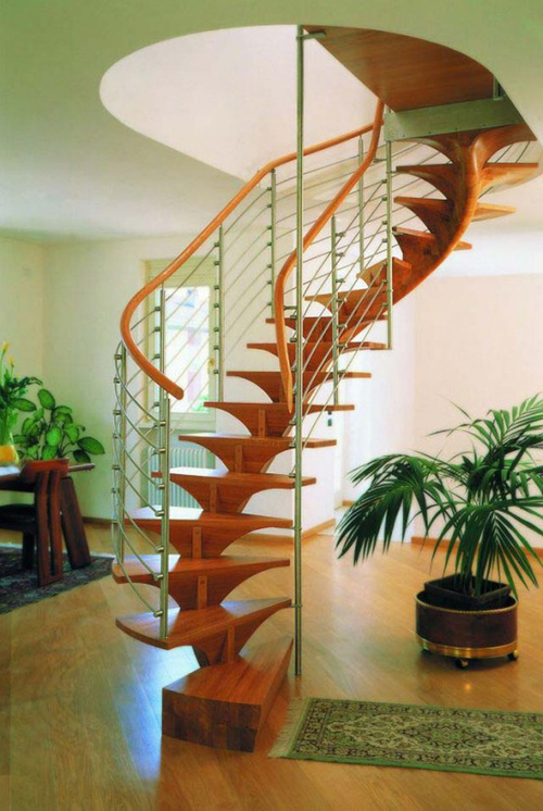 Комбинированная спиральная лестница