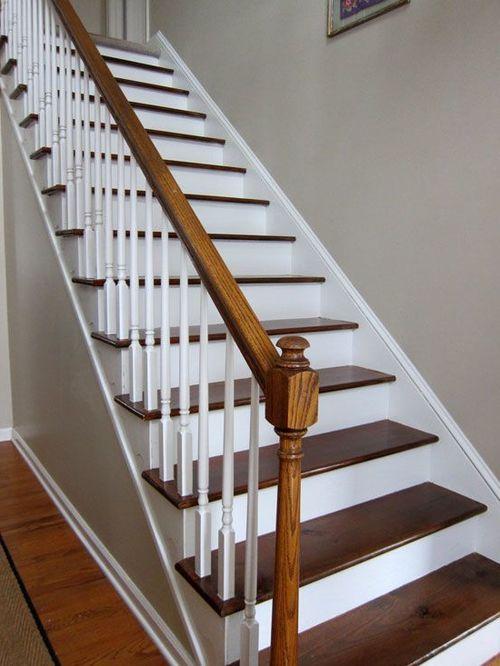 Традиционная маршевая лестница из дерева