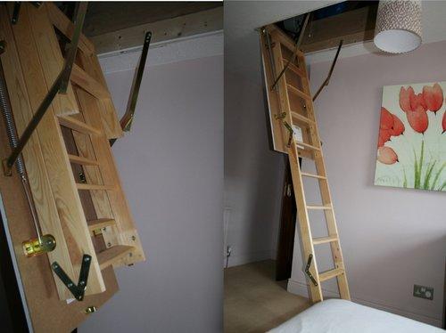 Раскладывание чердачной лестницы