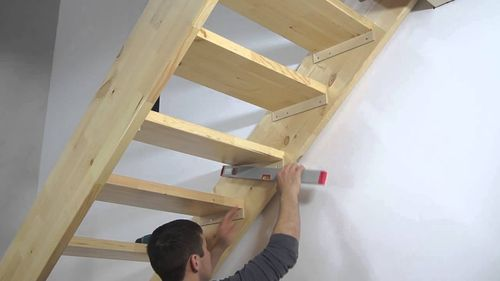 Деревянная лестница своими руками на 180 градусов фото 64