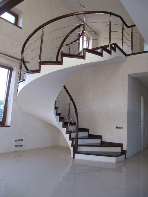 Технология как делается бетонная винтовая лестница