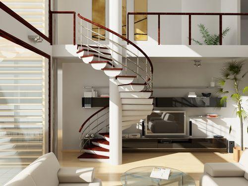 Какими бывают модульные винтовые лестницы
