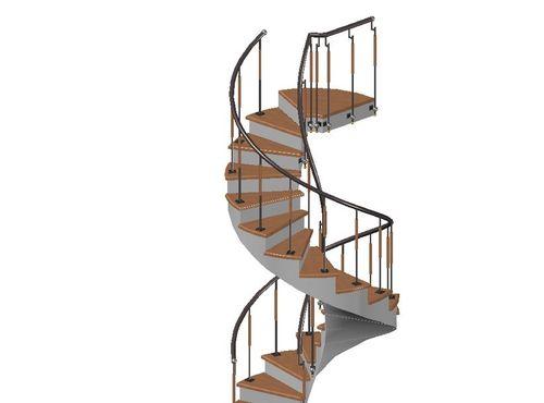 Типы, проекты и схемы винтовых лестниц